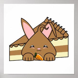 Chocolate Hopdrop y torta Poster