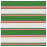 [ Thumbnail: Chocolate, Hot Pink, Dark Green, White, and Brown Fabric ]