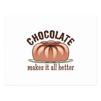 CHOCOLATE HUMOR POSTCARD