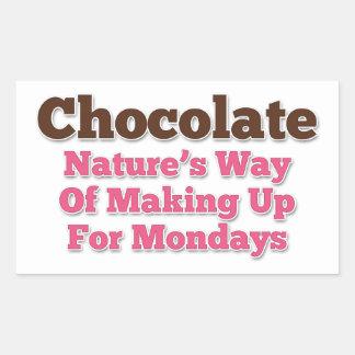 Chocolate Humor Saying Rectangular Sticker