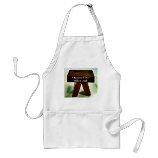 Chocolate Humour - A Balanced Diet Adult Apron