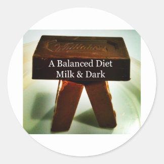 Chocolate Humour - A Balanced Diet Classic Round Sticker