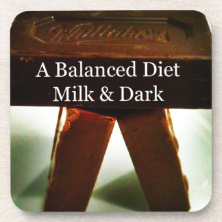 Chocolate Humour - A Balanced Diet Drink Coaster