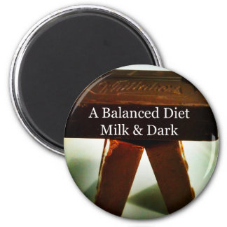Chocolate Humour - A Balanced Diet 2 Inch Round Magnet
