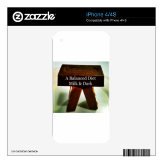 Chocolate Humour - A Balanced Diet iPhone 4 Skins