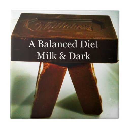 Chocolate Humour - A Balanced Diet Ceramic Tiles