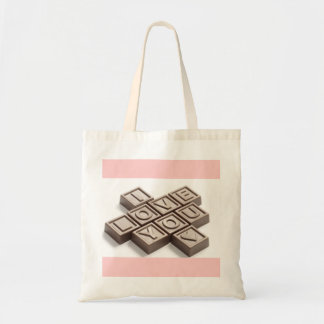 Chocolate I Love You Budget Tote Bag