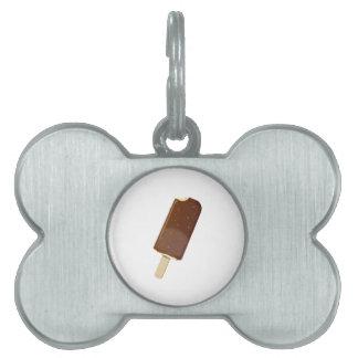 Chocolate Ice Cream Bar Pet Name Tag