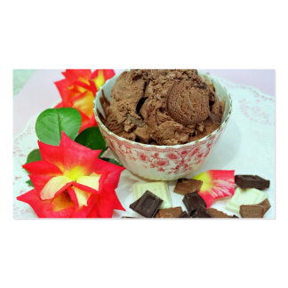 Chocolate ice cream Double-Sided standard business cards (Pack of 100)