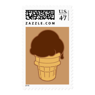 Chocolate Ice Cream Cone Stamp