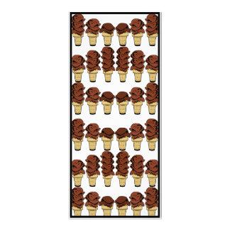 Chocolate Ice Cream Cones Background Rack Card