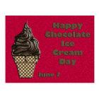 Chocolate Ice Cream Day June 7 Postcard