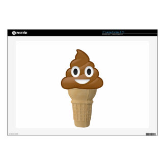 "Chocolate Ice cream or is it? Fun with Emoji 17"" Laptop Skins"