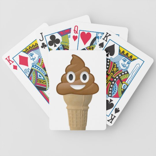 Chocolate Ice Cream Or Is It Fun With Emoji Bicycle Playing Cards