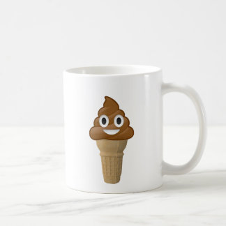 Chocolate Ice cream or is it? Fun with Emoji Coffee Mug