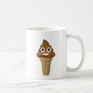 Chocolate Ice cream or is it? Fun with Emoji Coffee Mug