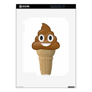 Chocolate Ice cream or is it? Fun with Emoji iPad 2 Decals