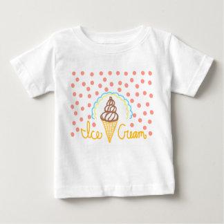 Chocolate Ice Cream Polka Dots Dream Baby T-Shirt