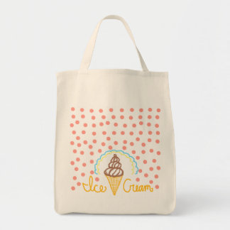 Chocolate Ice Cream Polka Dots Dream Tote Bag