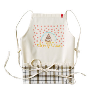 Chocolate Ice Cream Polka Dots Dream Zazzle HEART Apron