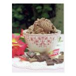 Chocolate ice cream post card
