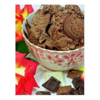 Chocolate ice cream postcard