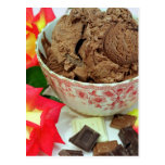 Chocolate ice cream postcards