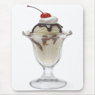 Chocolate Ice Cream Sundae Mouse Pad
