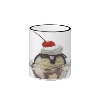 Chocolate Ice Cream Sundae Ringer Coffee Mug