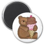 Chocolate Ice Cream Teddy Fridge Magnet