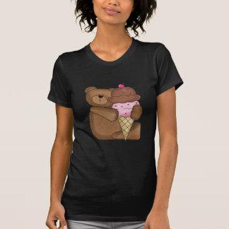 Chocolate Ice Cream Teddy Tshirts