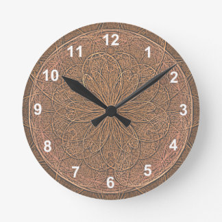 Chocolate Icing Round Clock
