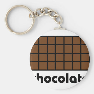 chocolate icon basic round button keychain