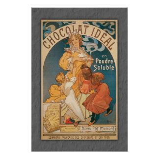 Chocolate Ideal Vintage French Beverage Posters