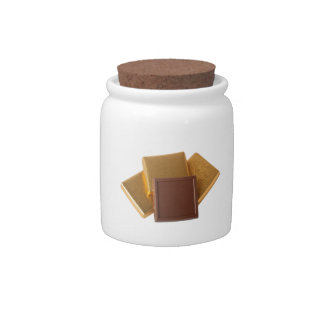 Chocolate in wrapper candy jar