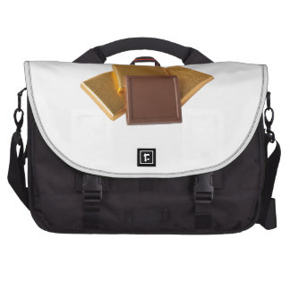 Chocolate in wrapper laptop messenger bag