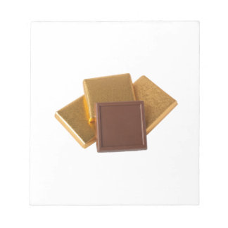 Chocolate in wrapper notepad
