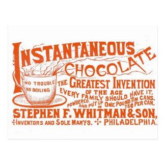 ¡Chocolate instantáneo Postales
