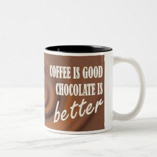 Chocolate Is Better Two-Tone Coffee Mug