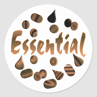 Chocolate is Essential Classic Round Sticker