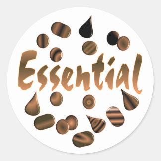 Chocolate is Essential Classic Round Sticker