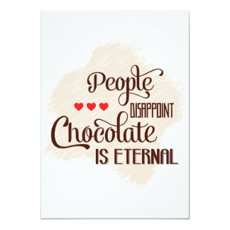 Chocolate Is Eternal Invitations