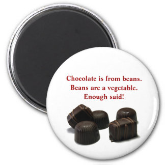 Chocolate is from Beans Magnet