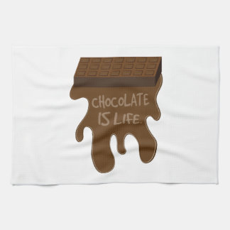 Chocolate Is Life Kitchen Towels