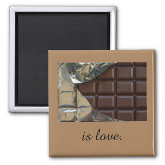 Chocolate Is Love 2 Inch Square Magnet
