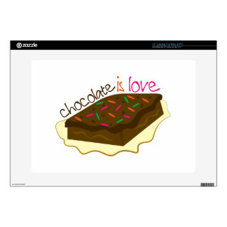 Chocolate Is Love Decals For Laptops