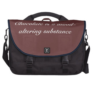 Chocolate is mood-altering - Senior Citizens Laptop Computer Bag