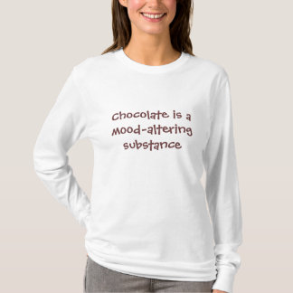 Chocolate is mood-altering - Senior Citizens T-Shirt