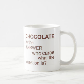 chocolate-is-the-answer classic white coffee mug