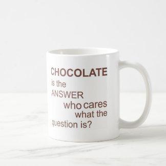 chocolate-is-the-answer coffee mug